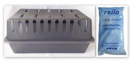 XXL Luftentfeuchter Box mit  1kg Jasminduft Luftentfeuchter Granulat (Calciumchlorid) im Vliesbeutel