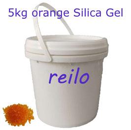 5kg Silica Gel Kugeln orange, mit Farbindikator - wiederverwendbar -