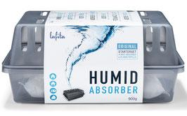 1 XL Lafita Luftentfeuchter Box mit 2x 900g Luftentfeuchter Granulat (Calciumchlorid) im Vliesbeutel