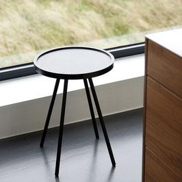 hochwertiger kleiner Tisch schwarz aus Mangoholz und Eisen, 2 Grössen, MS