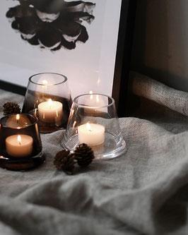 Kerzenhalter glas, 2 Grössen, Designprodukt Storefactory, MR