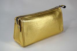 TRIANGULAR COSMETIC BAG S l GOLD l 3121
