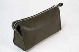 TRIANGULAR COSMETIC BAG S l OLIVE l 3121