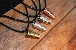Antike Metall Dubbe Halskette