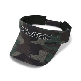 PELAGIC PERFORMANCE PRINT VISOR - Col.  GREEN CAMO