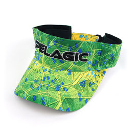 PELAGIC PERFORMANCE PRINT VISOR - Col. DORADO GREEN