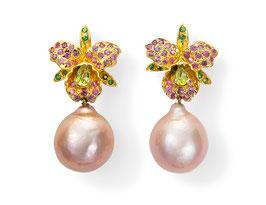 Orchideen-Ohrringe