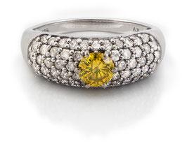 Gelber Diamantring