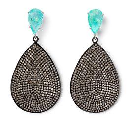 Paraiba-Diamantpavé-Ohrringe