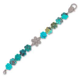Armband mit Türkisblüten