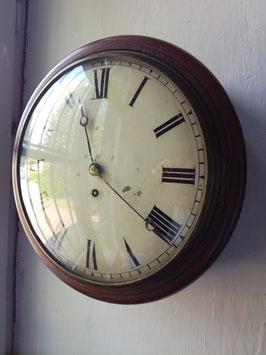Dial Clock mit Schnecke und Seil, um 1880, Wochenläufer
