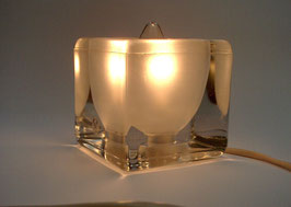 Putzler-Leuchte, Tisch-/Bodenlampe, 70er Jahre