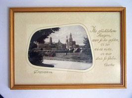 """Dresden, """"es war doch so schön"""", Goethe"""