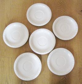 6 Unterteller für Teetassen, Rosenthal Maria weiss, Ø 16,3 cm