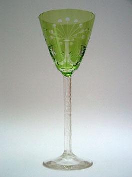 edles altes Weinglas, Kristall, mit Schliff