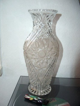 große Vase, Pressglas