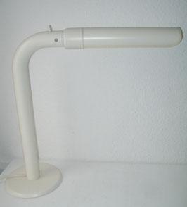 ältere Bürolampe/Schreibtischlampe aus Metall und Kunststoff, matt-weiss