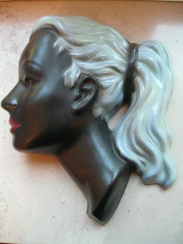 Wandmaske, Keramik, Western Germany 49