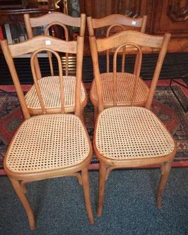 4 Stühle/Bugholzstühle/Wiener Kaffeehausstühle, Mundus/Kohn
