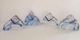 4 Briefbeschwerer Glaskunst modern