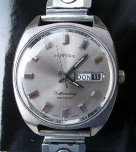 Herren-Armbanduhr, Automatik und Datumsanzeige, von Temporis, Swiss made