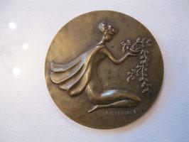 alte Bronze Medaille, A. Duerinck