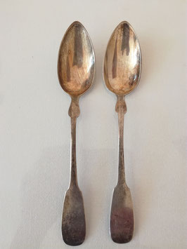 2 Teelöffel/Kaffeelöffel, 800 Silber, Spatenform, 20,5 g, L 13,8 cm