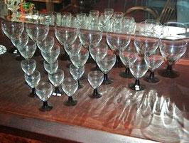 24 Gläser, Art Deco