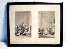 Miniatur-Radierung mit Katze, J. Penzel, datiert 1795