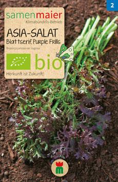 BIO ASIA-SALAT BLATTSENF (PURPLE FRILLS)