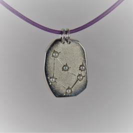 Silberanhänger Steinbock mit sechs Zuchtperlen