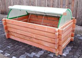Hochbeet 2,50 x 1,20m, h 0,75 m + Zubehör + Frühbeettunnel + Tomatendach-Erweiterung, nur bei Selbstabholung