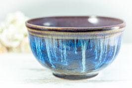 015 - Müslischale, Schale in braun, blau, creme und merlot