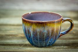 119 - Jumbo Keramiktasse in braun, blau, graulila