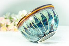 029 - Müslischale, Schale in braun, blau, creme und pflaume