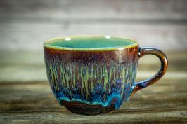 137 - Jumbo Keramiktasse ELEFANT in blaun, blau, türkis