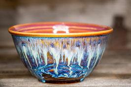 166 - Große Müslischale, Schale in braun, blau, creme, pflaume