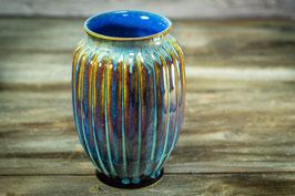 135 - Blumenvase in braun, blau, indigo