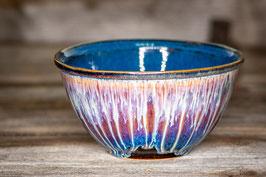 178 - Große Müslischale, Schale in braun, blau, creme und saphir