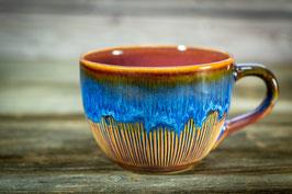 126 - Jumbo Keramiktasse in pflaume und blau