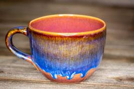 164 - Jumbo Keramiktasse in  braun, blau, pflaume