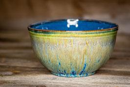 226 - XXL Müslischale, kleine Salatschale in kobalt, grün, bronze und saphir  *2.Wahl*