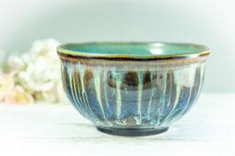 005 - Müslischale, Schale in braun, blau, creme und türkis