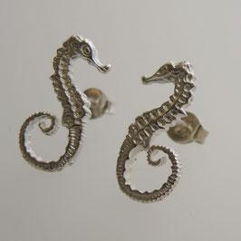 Seepferdchen Ohrstecker -925 Sterling Silber Ohrschmuck Naturschmuck