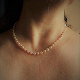Perlenkette aus eigener Werkstatt925 Sterling Silber