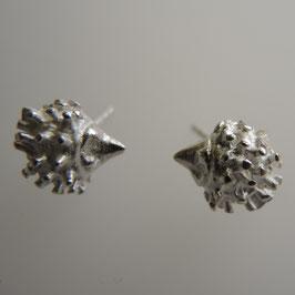 Kleiner Igel Ohrstecker  in 925 Sterling Silber