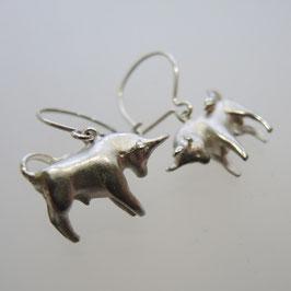 Stier Silber Ohrgehänge, Sternzeichen Ohrringe in 925 Sterling-Silber, für besondere Stier Frauen ein tolles Geschenk.
