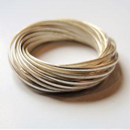 Beweglicher Ring aus 21 dünnen Ringen,  925 Sterling Silber