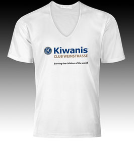 Kiwanis T-Shirt / V-Ausschnitt / Label: «Fruit of the loom»