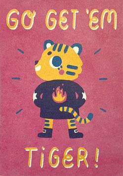 """Paraply: Print """"Go Get 'Em Tiger"""""""